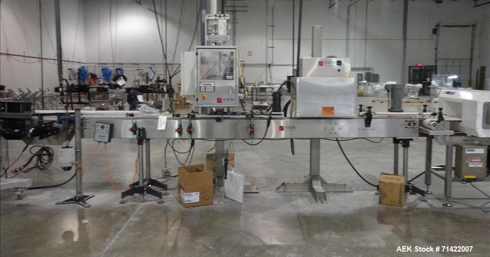 Used- Axon Model EZ-100 Tamper Evident Neck Bander and Sleeve Labeler
