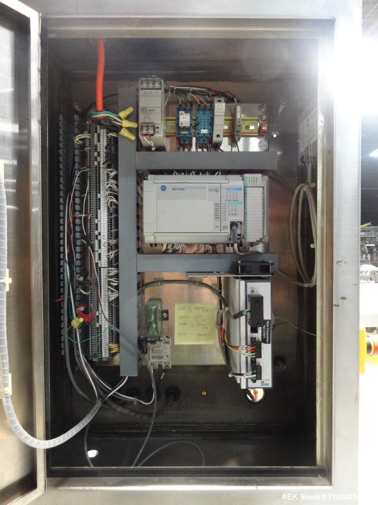 Used- Axon EZ-200 Tamper Evident Band Applicator/Sleeve Labeler