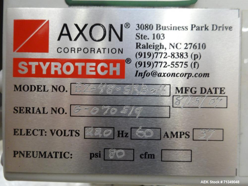 Used- Axon Model EZ-48-SRB-4 Two Chamber Shrink Tunnel