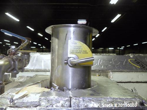 Used- Graham Packaging RF200LRSleeve Labeler. Capable of speeds up to 200 bottles per minute. Sleeve layflat range of 30mm -...