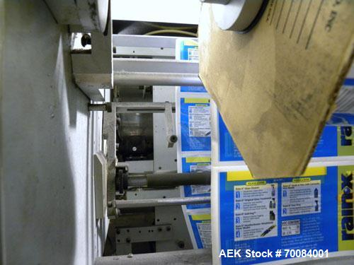 Used- SleeveCo Automatic Sleeve Label Machine, Model SL-3000. Capable of speeds up to 50 containers per minute. Maximum size...