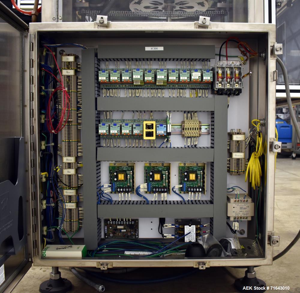 Used- PDC Model 75-M2 Shrink Sleever/Tamper Evident Neck Bander