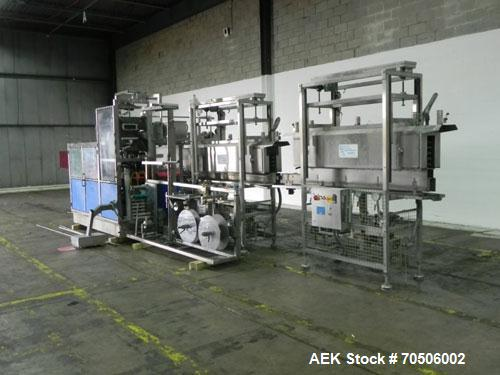 Used- PDC Model HC High Speed 16 Station Rotary Stretch/Shrink Labeler. With steam tunnel, capable of speeds up to 600 BPM. ...
