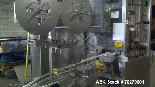 """Used-PDC Sleeve Labeler, Model R300STER, capable of speeds up to 250 bpm. Sleeve range 1.5"""" to 6.9"""" (28 to 175 mm) diameter,..."""