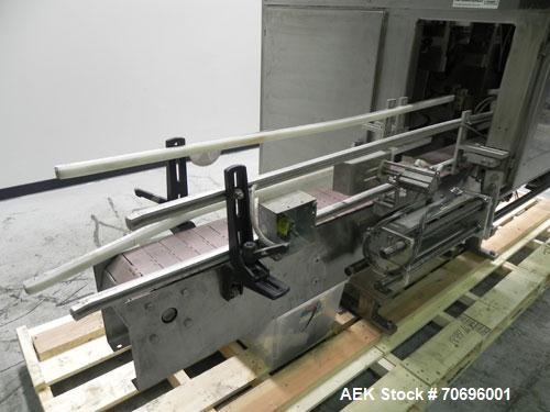Used- Styrotech Model ST-2200 Stretch Sleeve Labeler.  Machine is capable of speeds up to 45 bottles per minute - depending ...