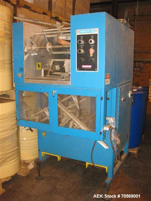 Used- Styrotech model ST-100 stretch shrink sleeve labeler. Capable of speeds up to 45 bottles ber minute. Can handle contai...