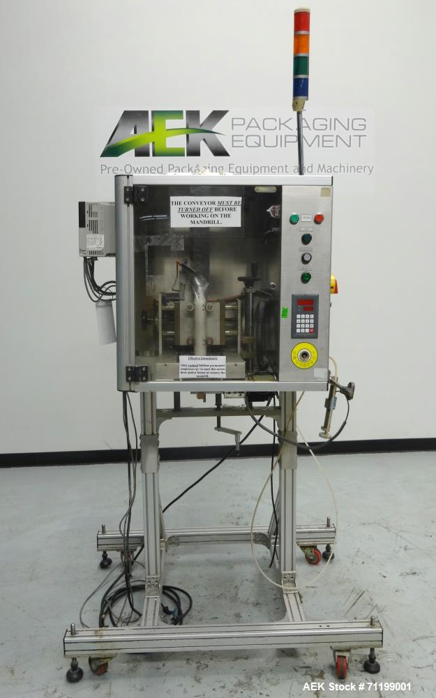 Used- TriPack Model LSA-160 Automatic Shrink Sleeve Labeler  or Neck Bander with