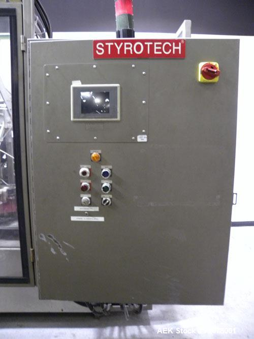 Used- Styrotech Automatic Polysleeve Stretch Sleeve Applicator, Model ST-6080