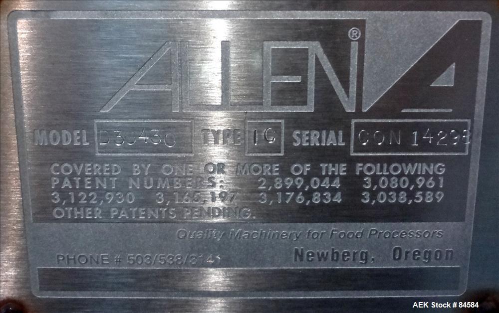 Used- Allen Optical Sorter, Model D25428