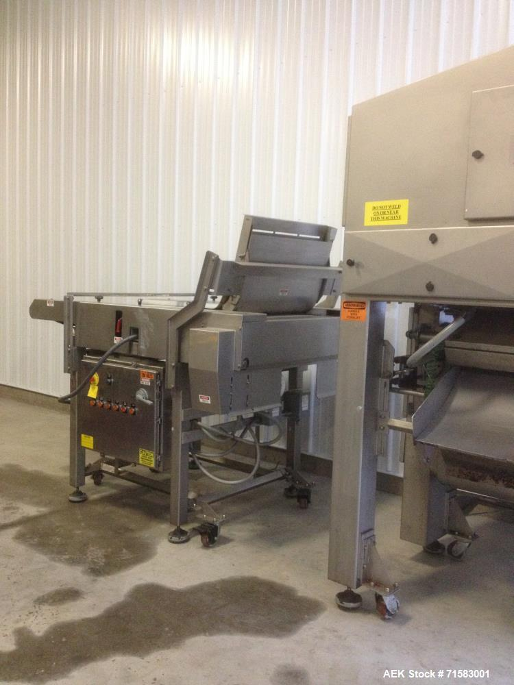 Used- Allen Panatronic Color Sorter, Model S0 2393. Type BBS. Includes sorter, vibrating table, accelerator belt. Mfg. 2001....