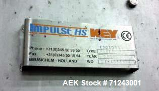 Used- Key Automated Inspection System, Model G6-Optyx. Includes: HS-Impulse in-feed shaker, Model MVEFD/2390/6,1-5,8, with 5...