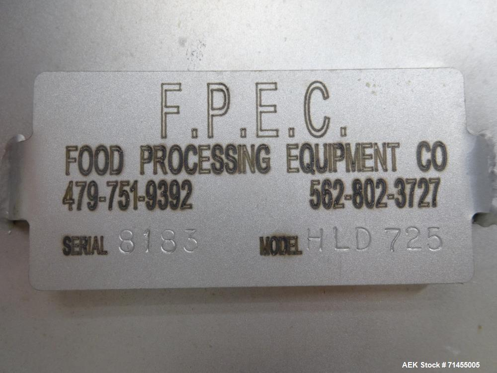 Used- FPEC Food Processing Equipment Company Model HLD725 Tote Dumper (Tote Crad