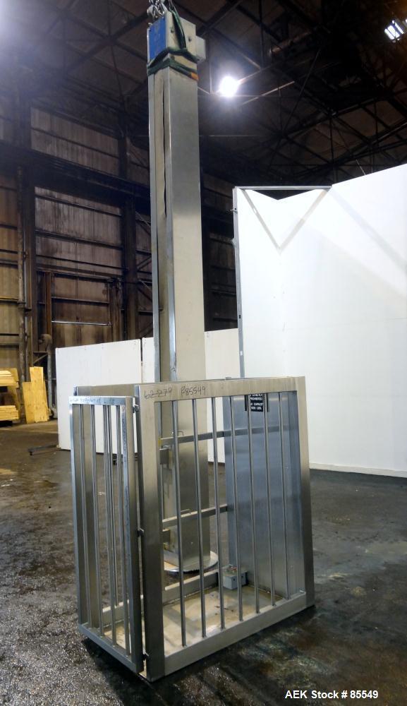 Used- Stainless Steel Meto-Lift Platform Lift, Model M2165-41