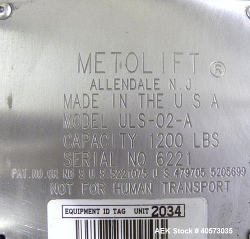 Used- Meto Lift Power Drum Lift/Inverter, Model ULS-02-A