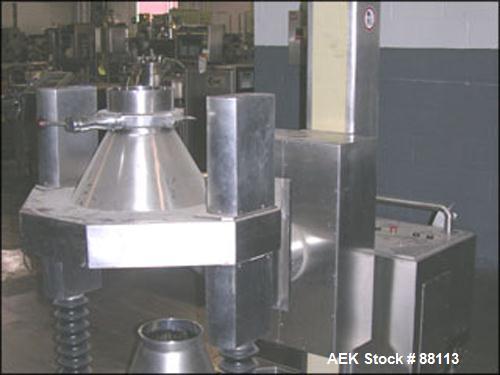 Used- Stainless Steel MO Industries Drum Lift, Model ELD100R