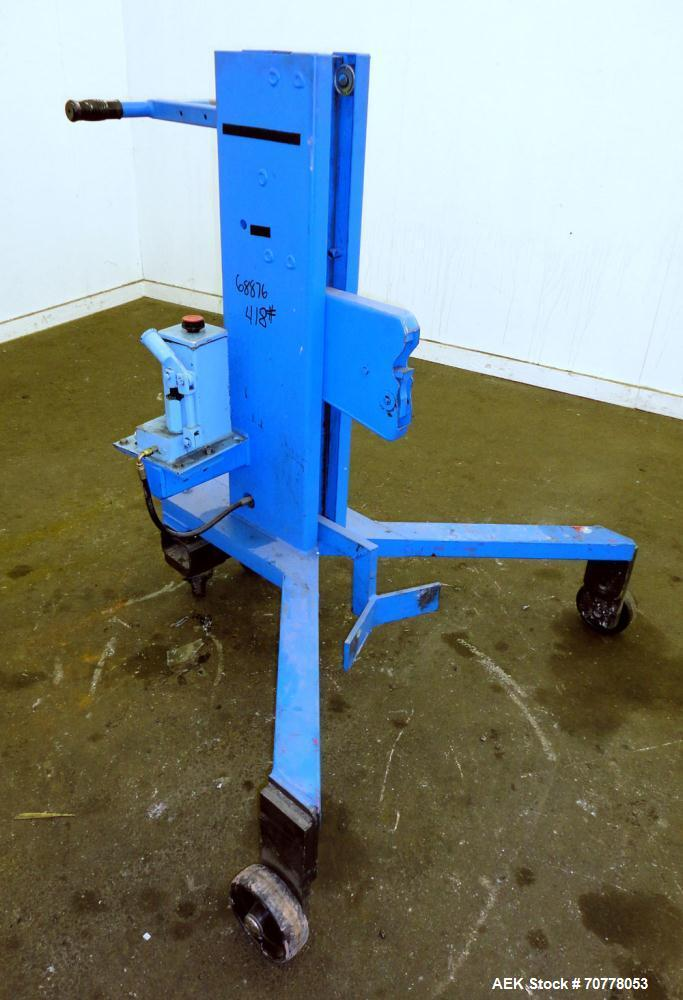 Used- Morse Series 82H Manual Hydraulic Drum Lifter / Palletizer, Carbon Steel