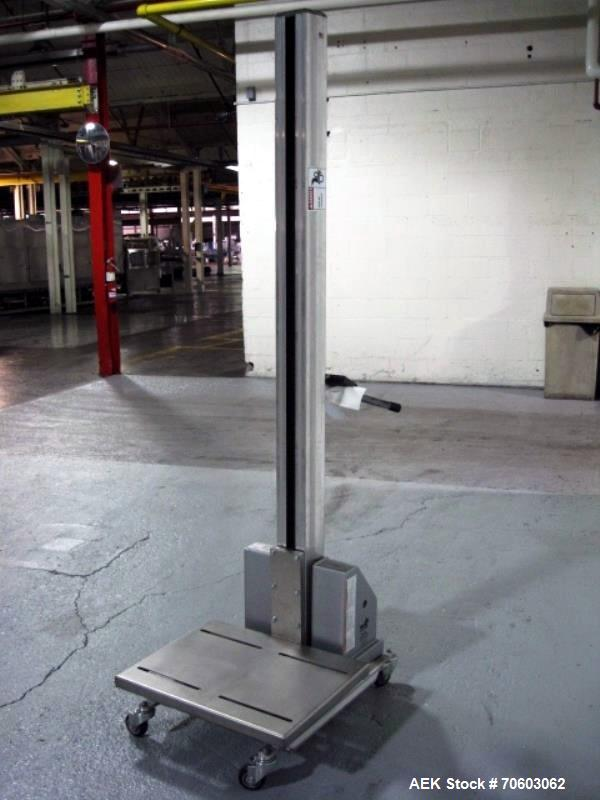 Used- Vistil Manufacturing Company Lift, Model PEL-100-A/LS/HC, 125 lb / 57 kg capacity, 110V input, 24 VDC battery operated...