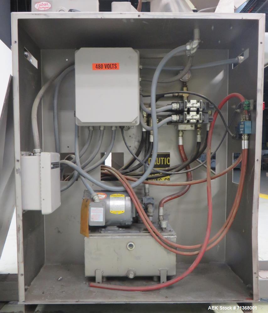 """Used- Tubar/Eureka Model TD-LS-48""""-60""""-750#-STAT Hydraulic Powder Dumper"""