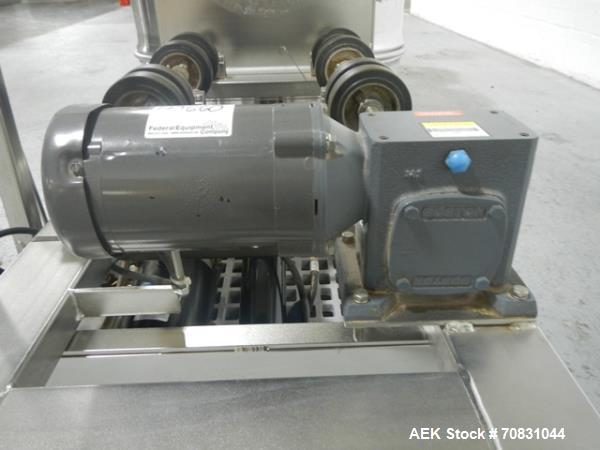 Used- Stainless Steel Morse Hydra-Lift Drum Roller, Model 456S