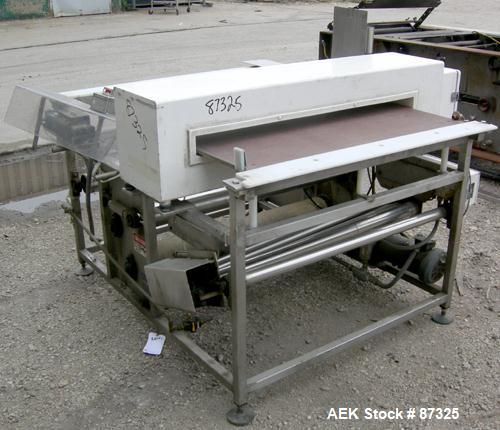 """Used- Goring Kerr Metal Detector with reject . Aperture size 44"""" wide x 3"""" high x 13-1/2"""" deep. Includes a Pacific Conveyor ..."""