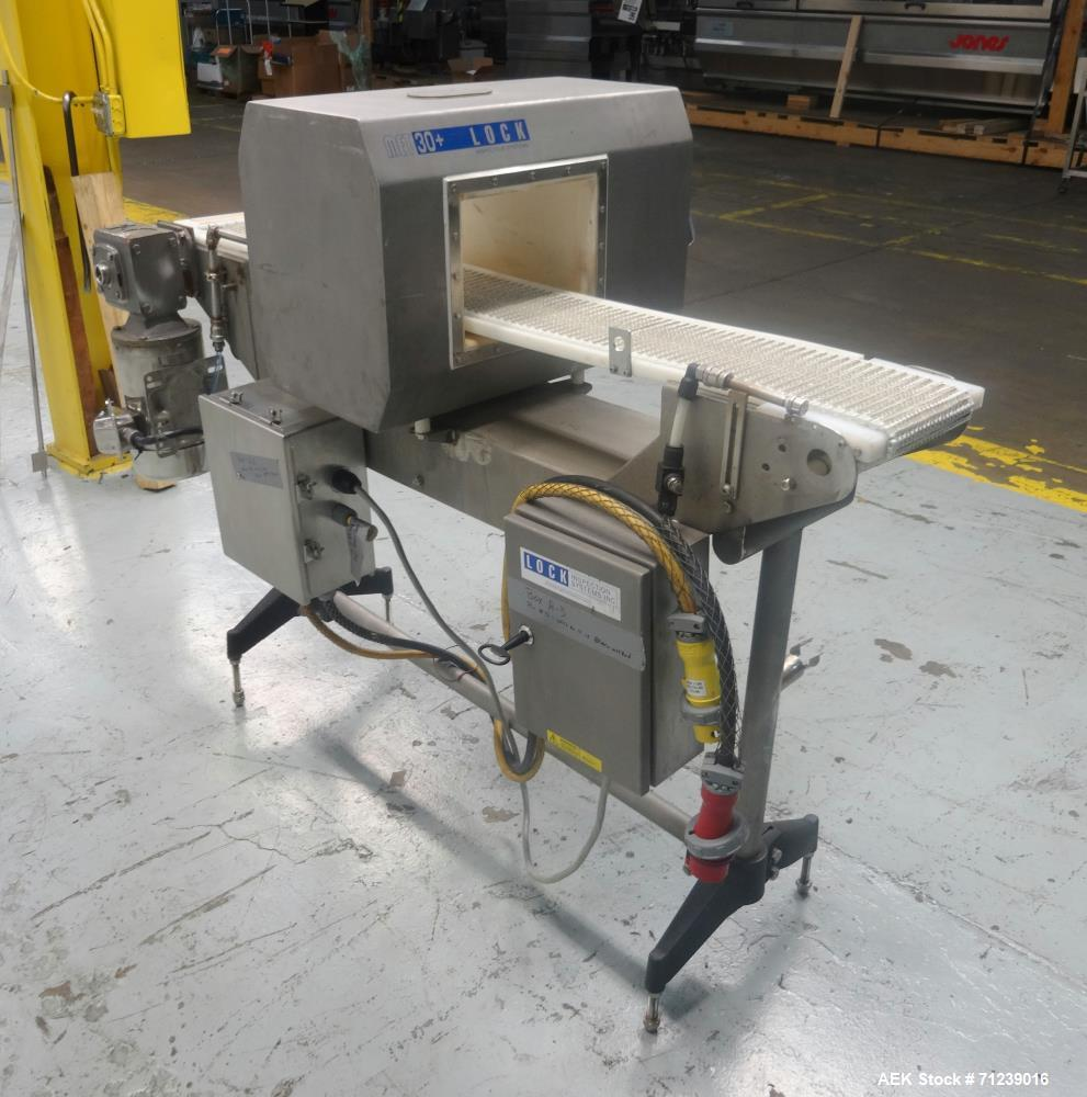 Used- Lock Inspection Systems Model Met 30+ Metal Detector. Aperture size . Conveyor size.
