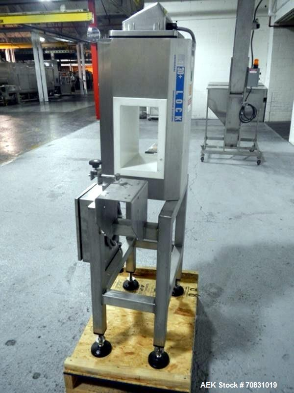 "Used- Lock Pass Thru Metal Detector, Model MET 30+.  5.5"" Wide x 9.5"" high x 11"" long opening, not equipped with conveyor,  ..."