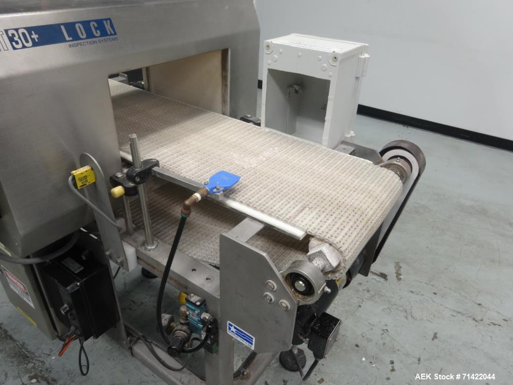 Used- Loma Model Lock Met 30+ Conveyor Metal Detector