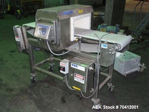 "Used- Lock Model Met 30+ Universal 3F Metal Detector. Machine has conveyor attached. Has a 13"" wide x 6.5"" high aperture. Al..."