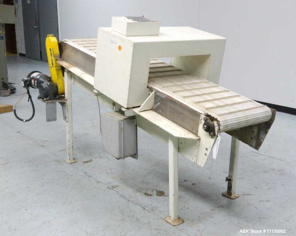 Used- Lock Model 8X24 Conveyor Mounted Metal Detector