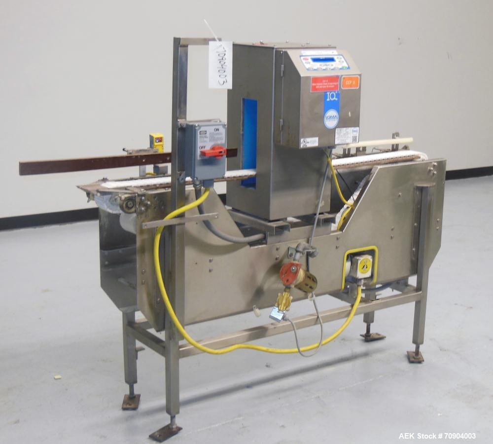 "Used- Loma IQ2 Conveyor Mounted Metal Detector.  Built 06/2004. Aperture size 100 mm (3-15/16"") Wide x 350 mm (13-3/4 "") Tal..."