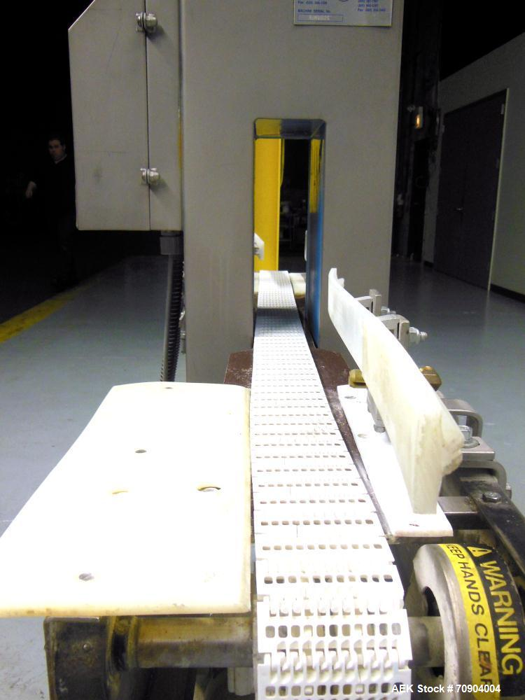 """Used- Loma IQ2 Conveyor Mounted Metal Detector.  Built 10/2002. Aperture size 100 mm (3 15/16"""") Wide X 350 mm (13 3/4"""") Tall..."""