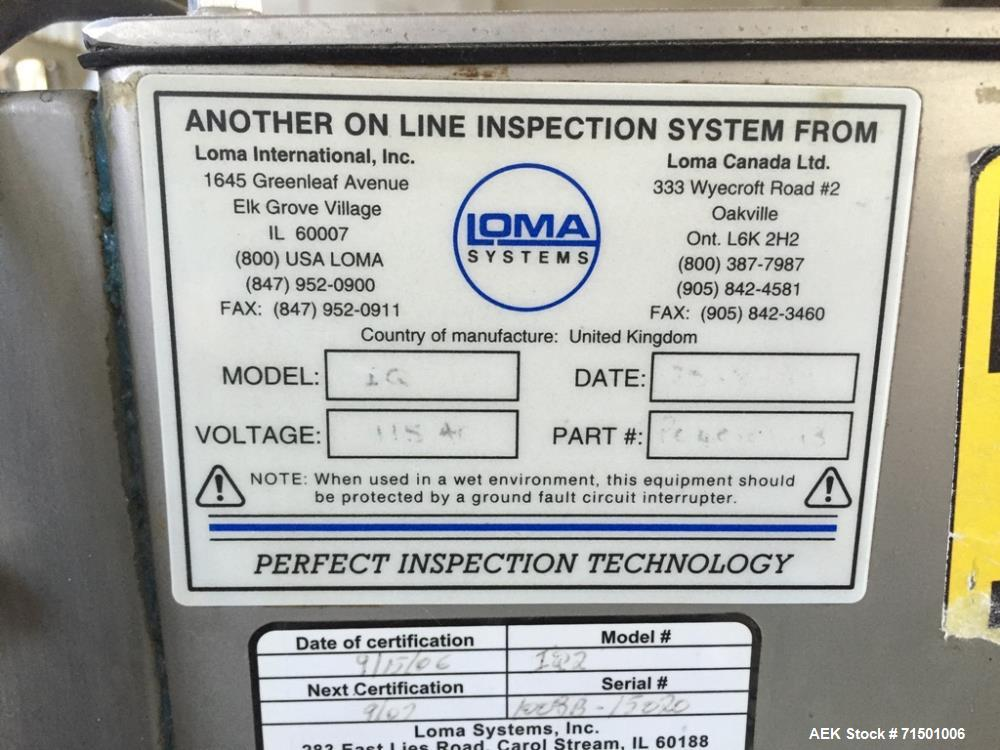 Used- Loma Systems Model IQ2 Metal Detector