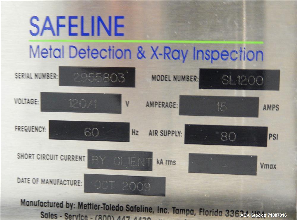 Used- Mettler-Toledo Model SL 1200 Safeline Metal Detector