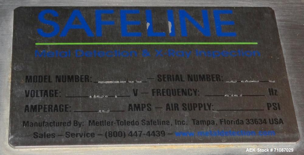 "Used-Safeline (Mettler-Toledo) Model PowerPhase Plus Metal Detector.  Aperature  20"" Wide x 16"" Tall, with 14.5"" useable Hei..."