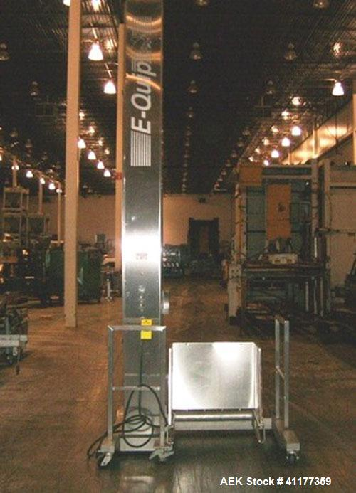 Used- Stainless Steel E Quip Vertical Cart Lifter, Model 320