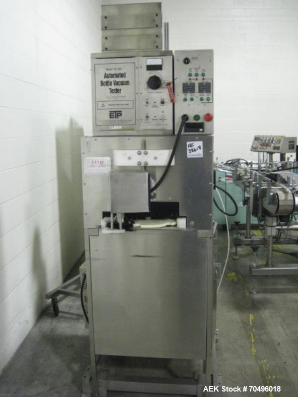 Used- Electro Technic Products Automated Bottle Vacuum Tester, Model VC-105
