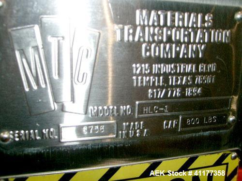Used- MTC (Materials Transportation Co.) Vertical Cart Lifter, Model HLC-1