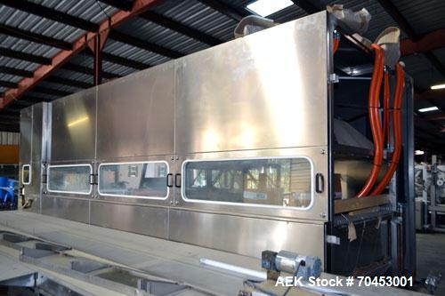Unused- Neri NCT 1200 Stainless Steel 6 Zone Cooling Tunnel. Machine is designed to cool the content of deodorant bottles se...