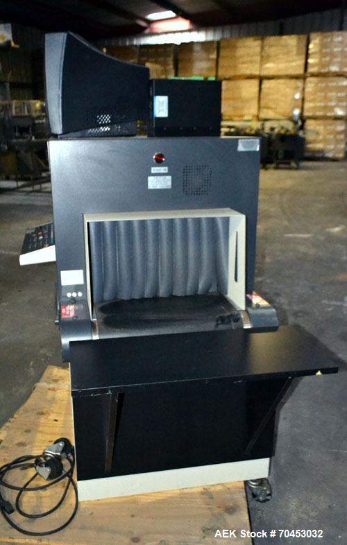 Used- EG&G Astrophysics Line Scan 222 X-Ray Machine with conveyor belt