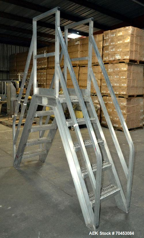 Used- Aluminum Packaging Line Walk & Cross Over Stairs