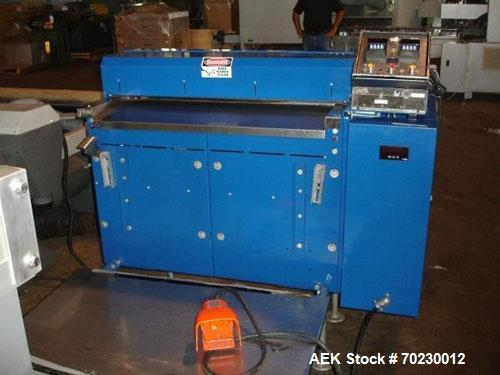 """Used-Rosenthan Sheetmaster Sheeter. 36"""" Wide, rated up to 130 FPM with dancer rool and output table. NOTE PRICE INCLUDES A 1..."""