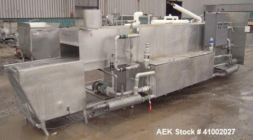 "Used- Stoelting 2 Section Washer/Rinser, Model 80, 304 stainless steel. 24"" wide x 246"" long wire stainless steel belt, driv..."