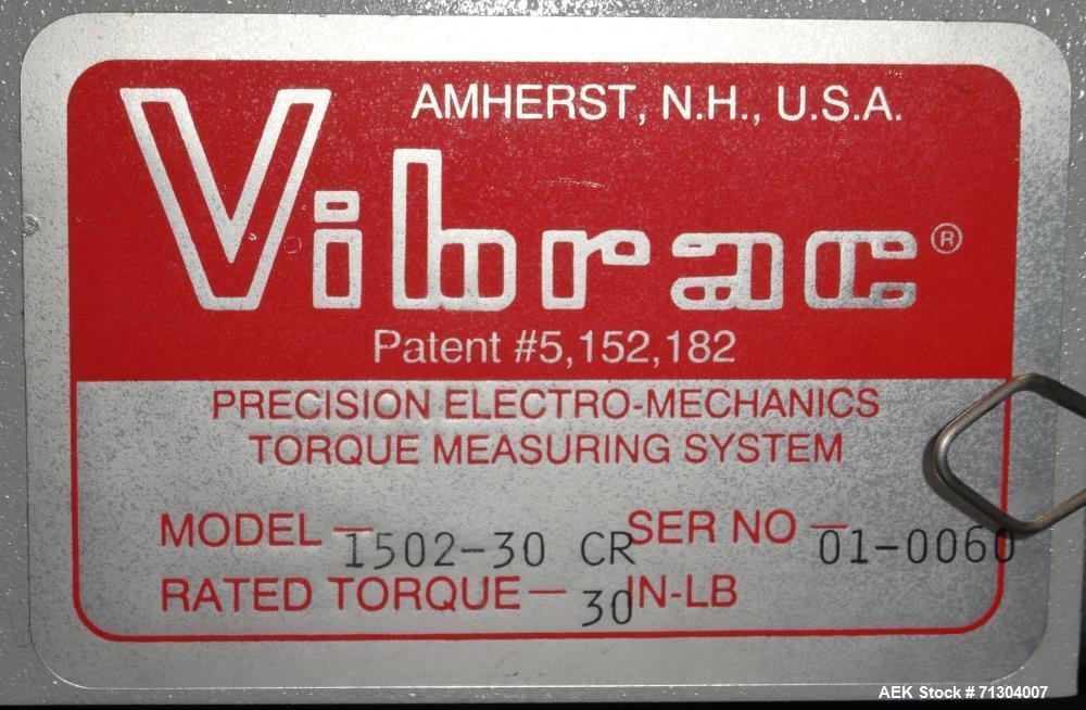 "Used- Vibrac Model 1502-30 CR ""Torqo"" Electronic Torque Tester"