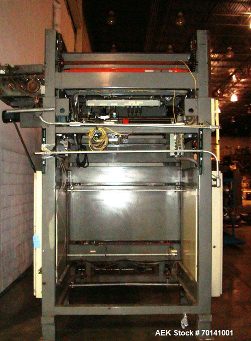Used- Alvey Model 800 Automatic Palletizer. Capable of speeds up to 75 cases per minute. Has Allen Bradley 504 PLC controls,...