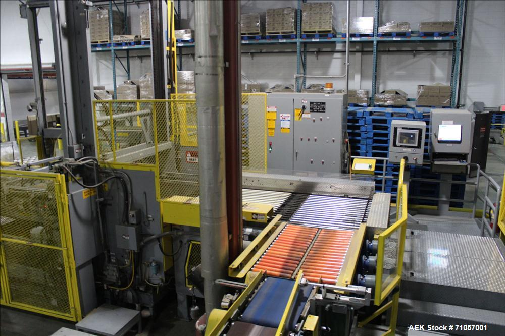 Used-Columbia Model 610 Low Level Palletizer with Slip Sheet