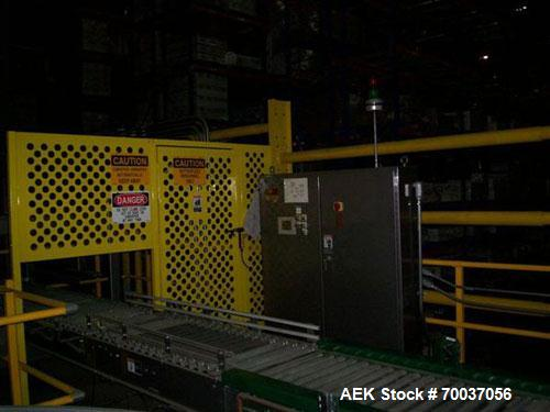 "Used-Goldco High Level Case Palletizer, Model L2025. Includes adjustable pallet dispenser for 36"" x 36"" and 40"" x 48"" pallet..."
