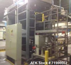 Used- Alvey Model 800 Automatic Palletizer. Capable of speeds up to 75 cases per minute. Has Allen Bradley 5-20 PLC controls...