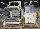 Used- Columbia Machine Colmac 500 Low Level Case Palletizer, Model 500H-LRXS-AB-9002, Carbon Steel. Capable of 35 to 45 case...