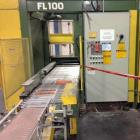 Used- Columbia Palletizer, Model FL-100. Pallet size 48 x 40. Planelmate SLC-500. Overall dimensions: 16' long x 8' wide x 1...