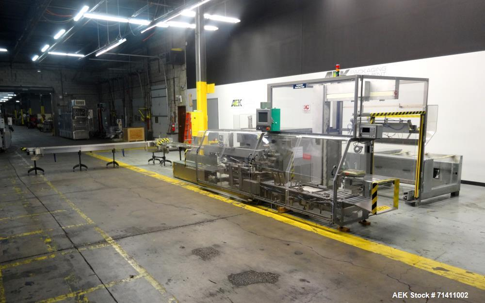 Used- Marchesini Model MCP840 Combination Case Packer and Palletizer